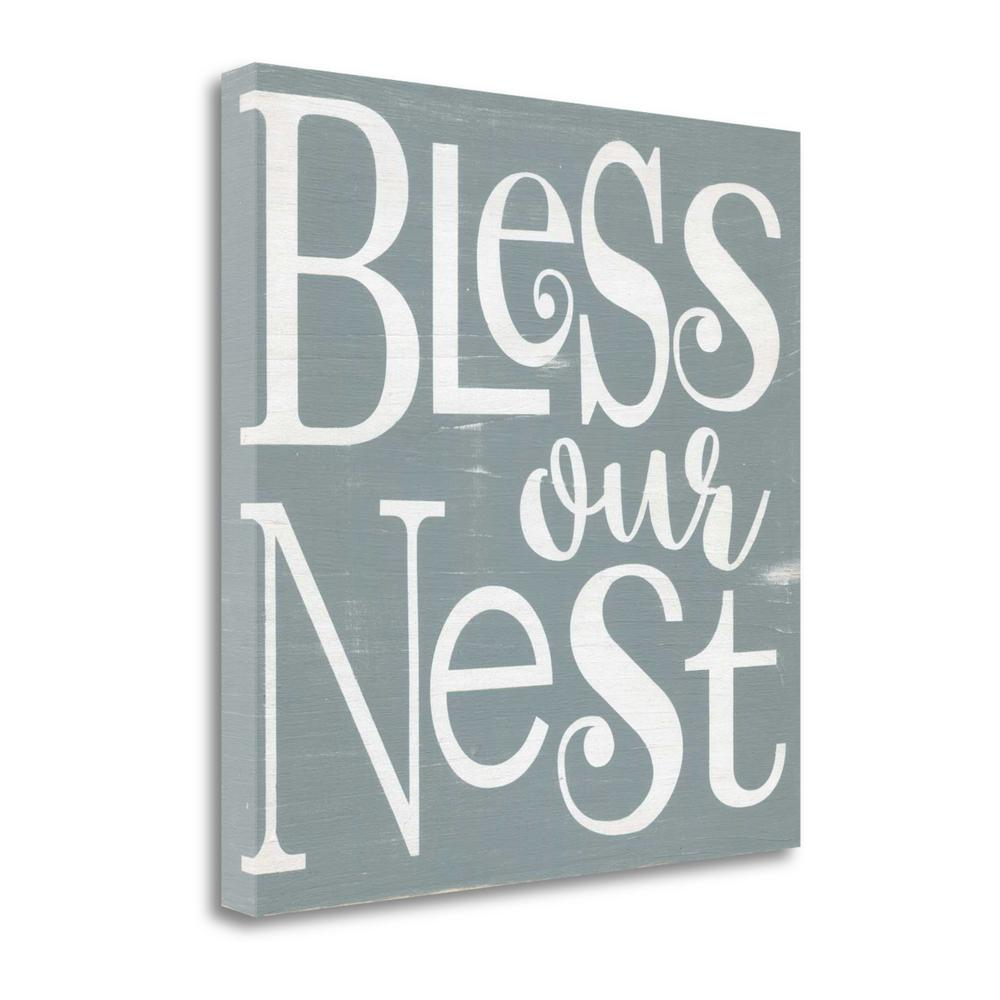 """Bless Our Nest"" By Alli Rogosich, Fine Art Giclee Print on Gallery Wrap Canvas, Ready to Hang. Picture 1"