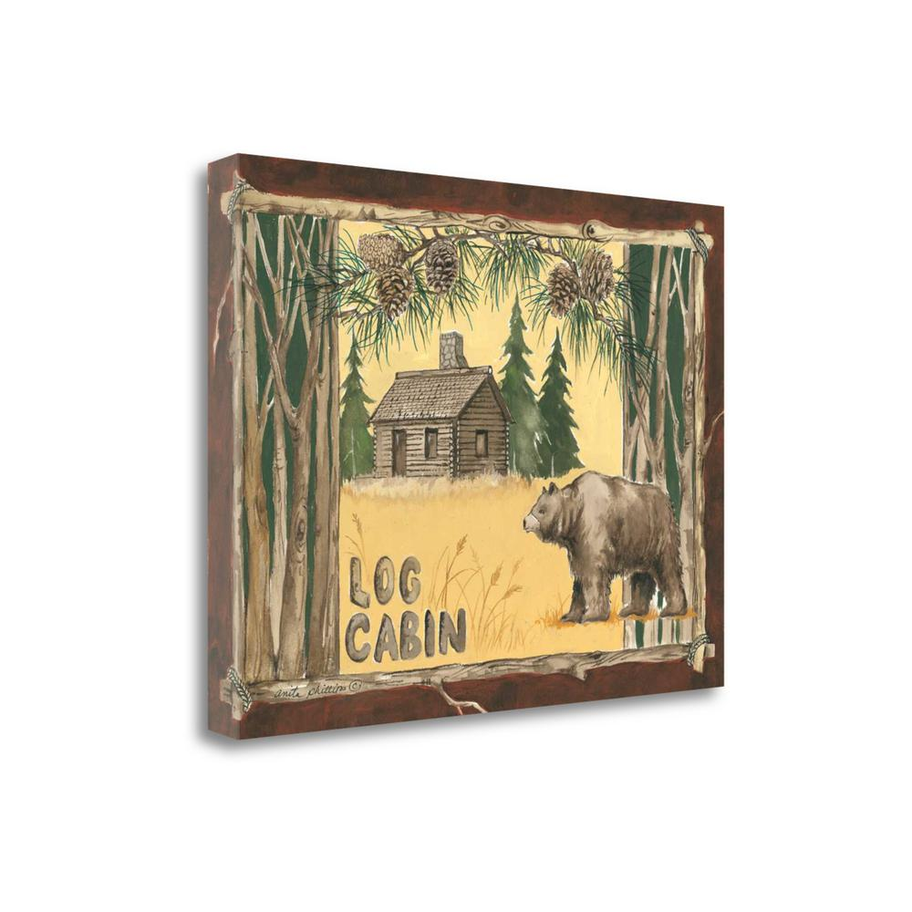 """""""Log Cabin Bear"""" By Anita Phillips, Giclee Print on Gallery Wrap Canvas. Picture 1"""