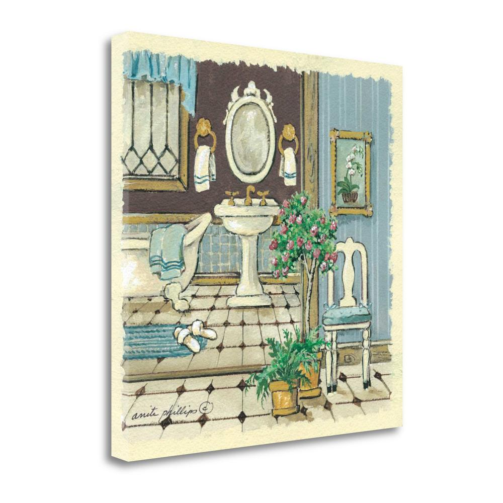 """""""Antique Bath I"""" By Anita Phillips, Giclee Print on Gallery Wrap Canvas. Picture 1"""