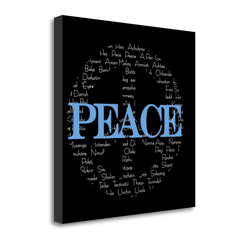 """""""Peace Sign"""" By Anna Quach, Fine Art Giclee Print on Gallery Wrap Canvas. Picture 1"""