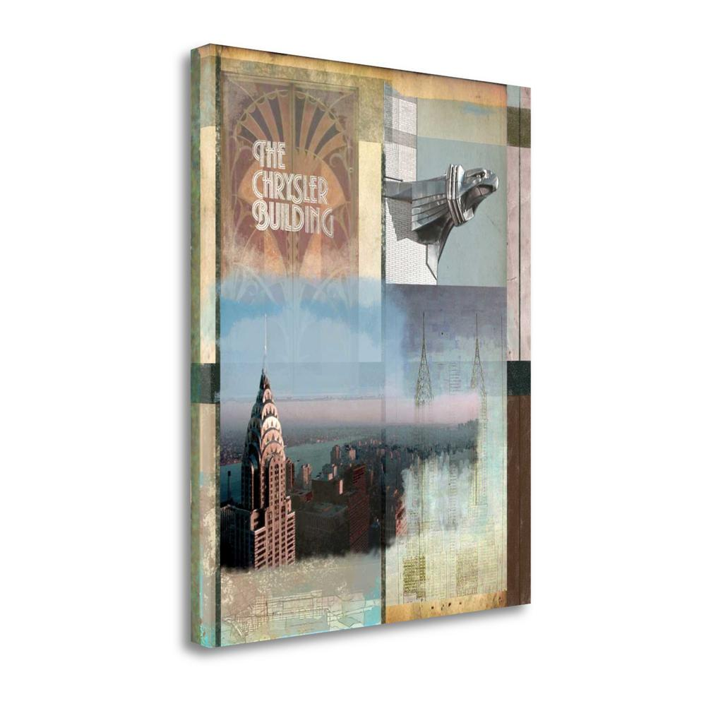 """""""Chrysler Collage"""" By Andrew Sullivan, Giclee Print on Gallery Wrap Canvas. Picture 1"""