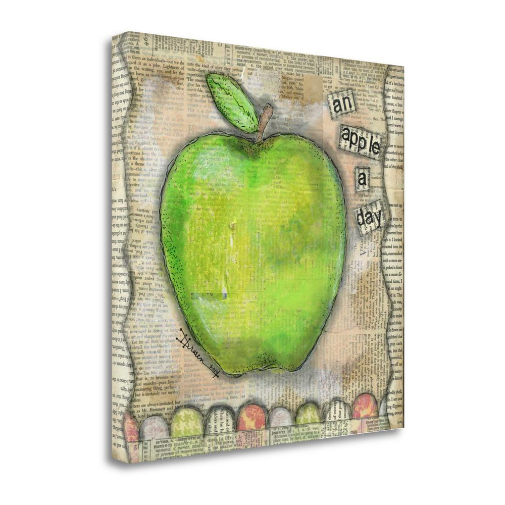 """""""An Apple A Day"""" By Denise Braun, Fine Art Giclee Print on Gallery Wrap Canvas. Picture 1"""