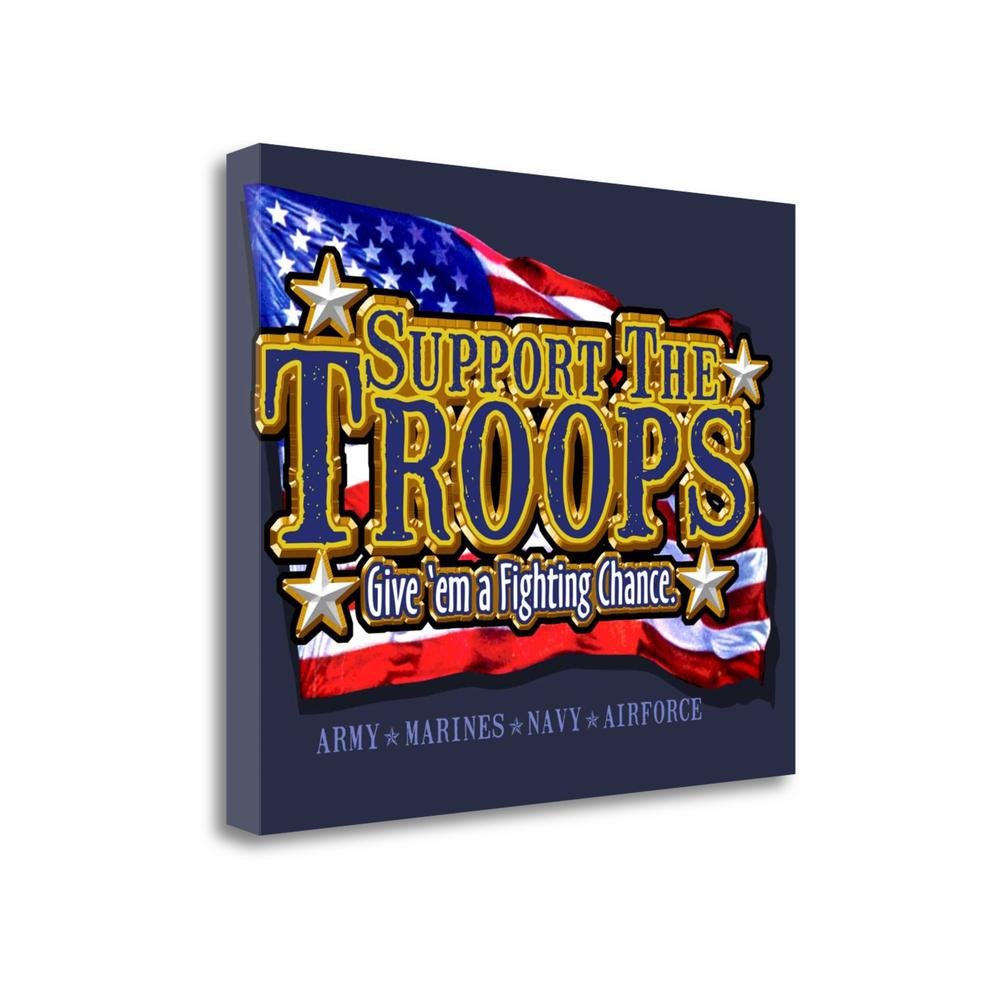 """Support Troops"" By Jim Baldwin, Fine Art Giclee Print on Gallery Wrap Canvas. Picture 1"