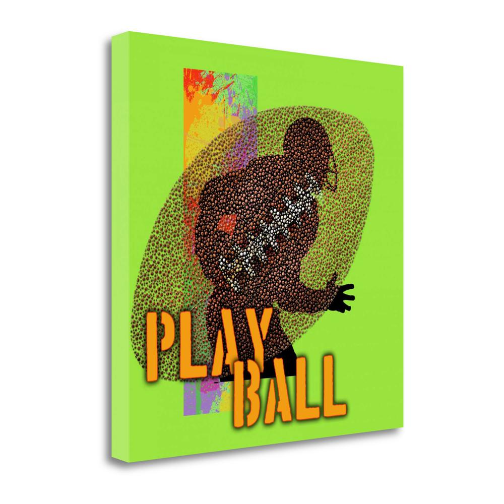 """""""Play Ball - Football"""" By Jim Baldwin, Giclee Print on Gallery Wrap Canvas. Picture 1"""