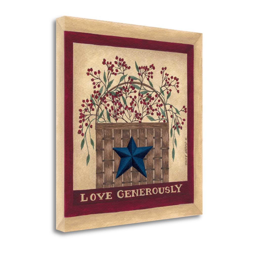 """""""Love Generously"""" By Cindy Shamp, Fine Art Giclee Print on Gallery Wrap Canvas. Picture 1"""