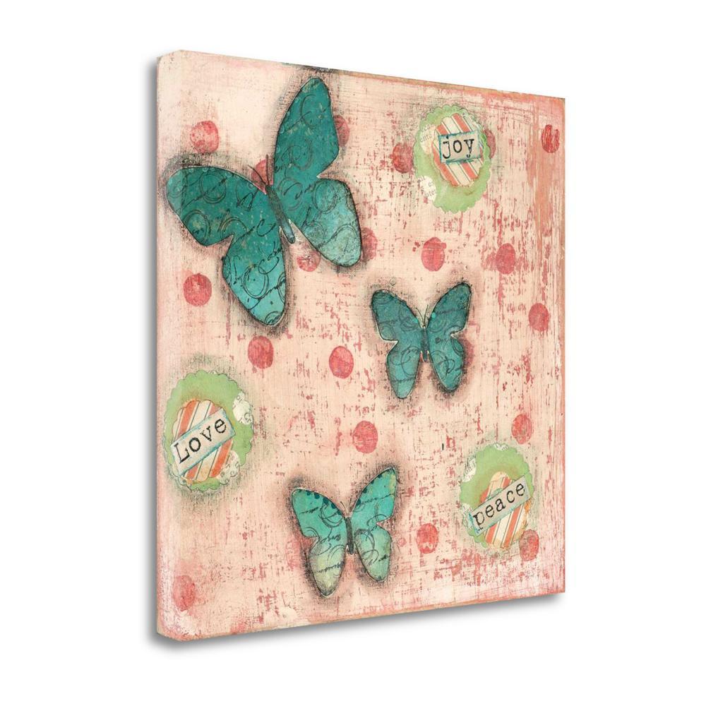 """Joy Peace Butterflies"" By Cassandra Cushman, Giclee on Gallery Wrap Canvas. Picture 1"