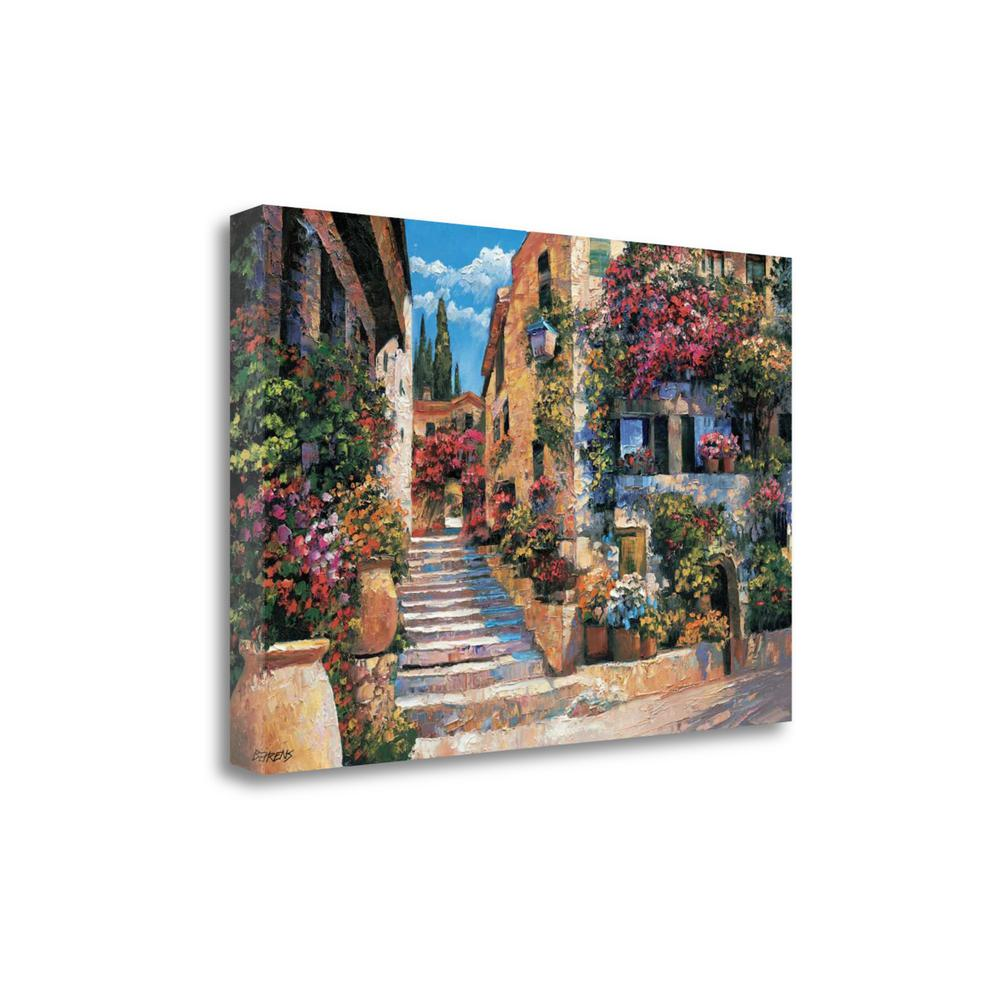 """""""Riviera Stairs"""" By Howard Behrens, Giclee Print on Gallery Wrap Canvas. Picture 1"""