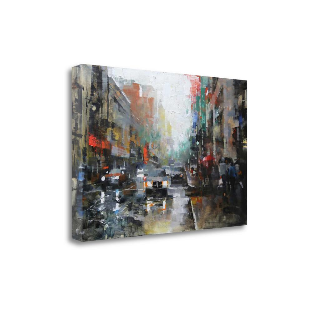 """Montreal Rain"" By Mark Lague, Fine Art Giclee Print on Gallery Wrap Canvas. Picture 1"