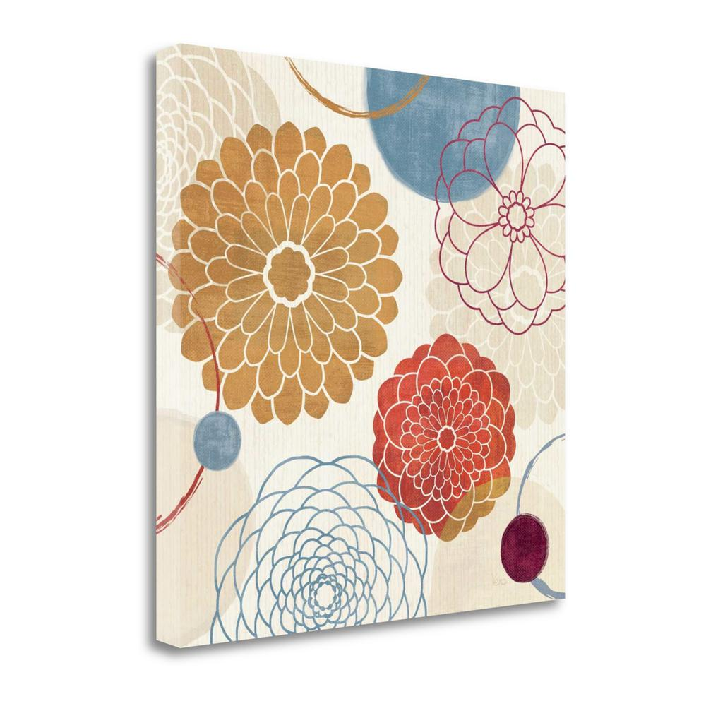 """Abstract Bouquet II"" By Veronique Charron, Giclee Print on Gallery Wrap Canvas. Picture 1"