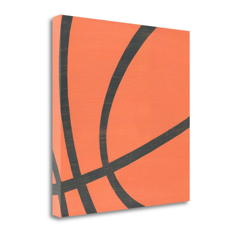 """Basketball"" By Alli Rogosich, Fine Art Giclee Print on Gallery Wrap Canvas, Ready to Hang. Picture 1"