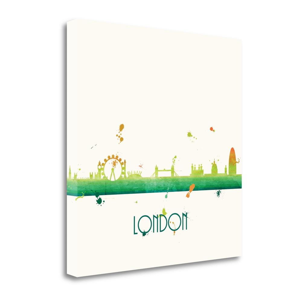 """Citrus London - Sq."" By Anna Quach, Giclee Print on Gallery Wrap Canvas. Picture 1"