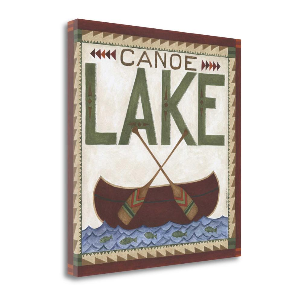 """Canoe Lake"" By Cindy Shamp, Fine Art Giclee Print on Gallery Wrap Canvas"