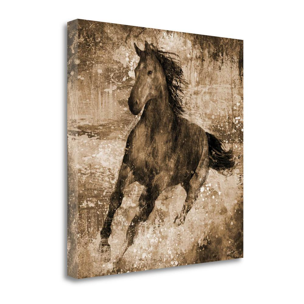 """""""Running Free"""" By Eric Yang, Fine Art Giclee Print on Gallery Wrap Canvas, 1.5"""" x 35"""", BAEY26961-3535c. Picture 1"""