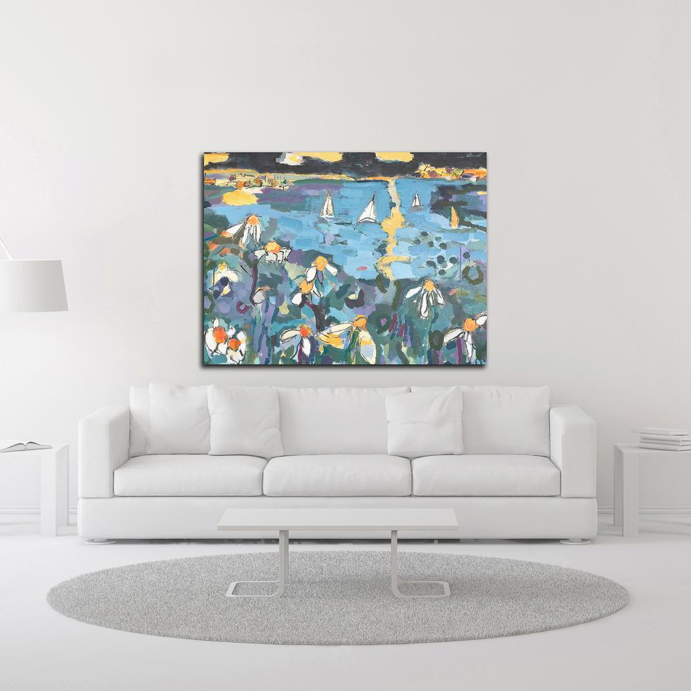 "Yachting by Per Anders , Print on Canvas, 24"" x 18"", Ready to Hang. Picture 2"