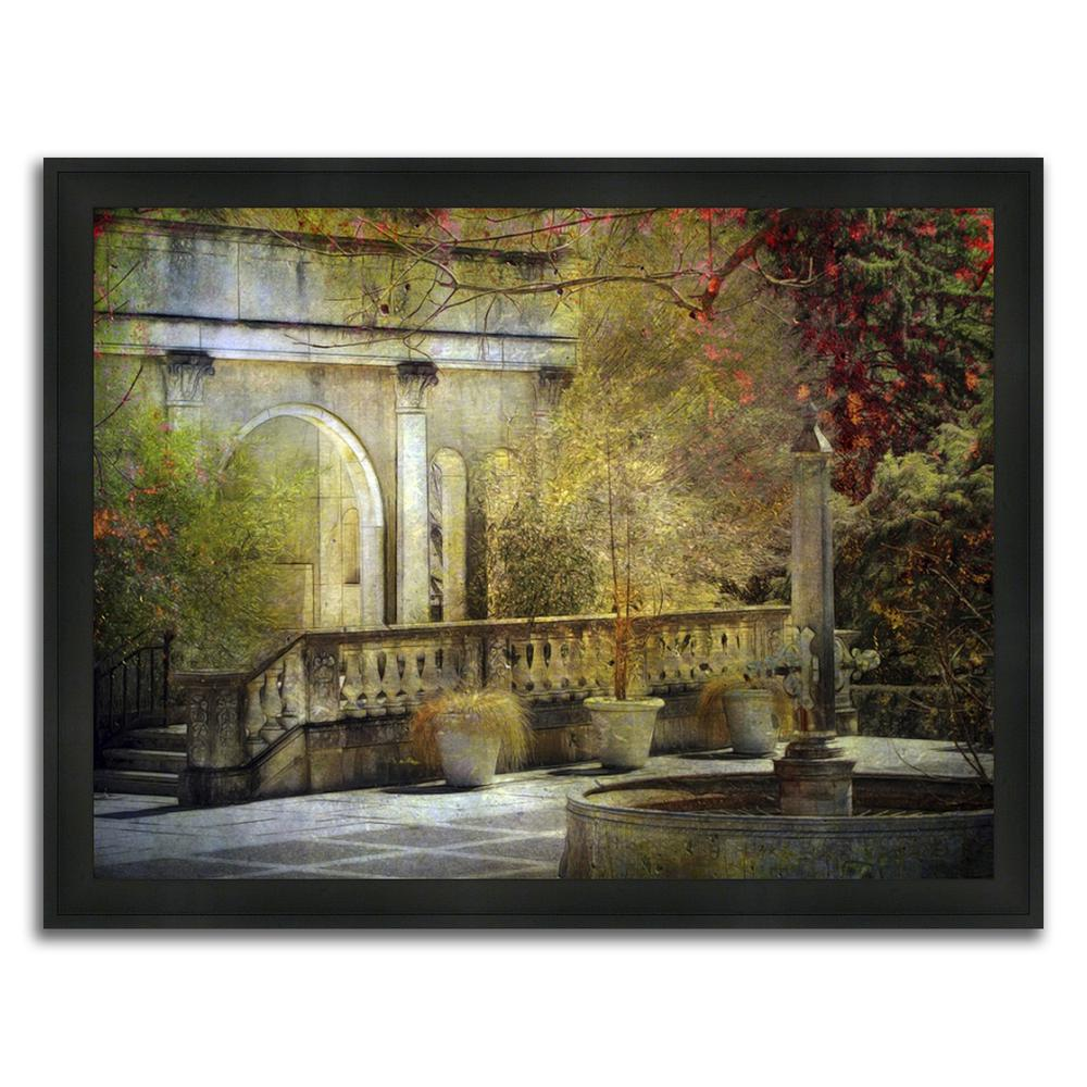 """Roman Retreat "" Framed Painting Print in Acrylic Finish. Picture 1"