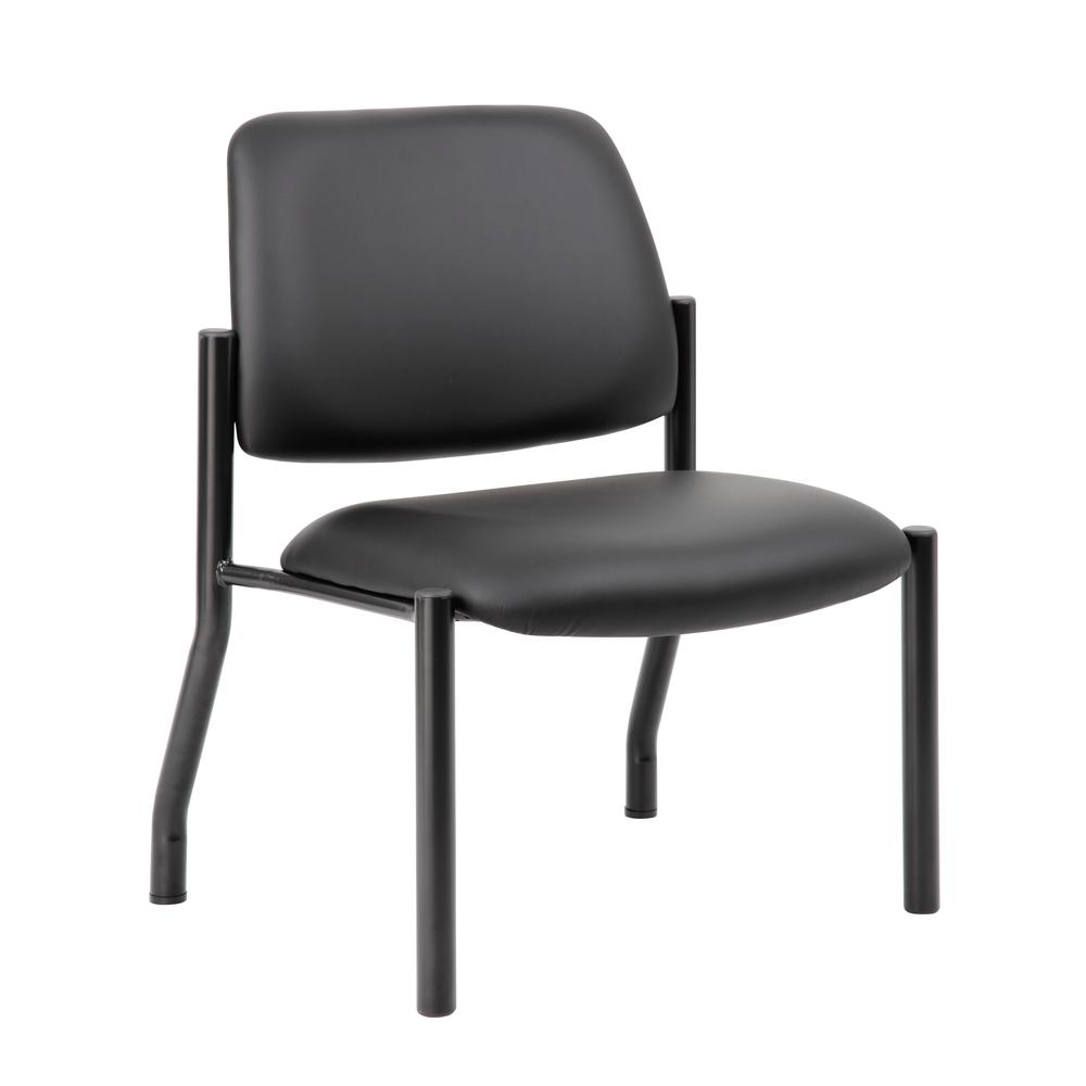 Boss Antimicrobial Armless Guest Chair, 400 lb. weight capacity. Picture 6