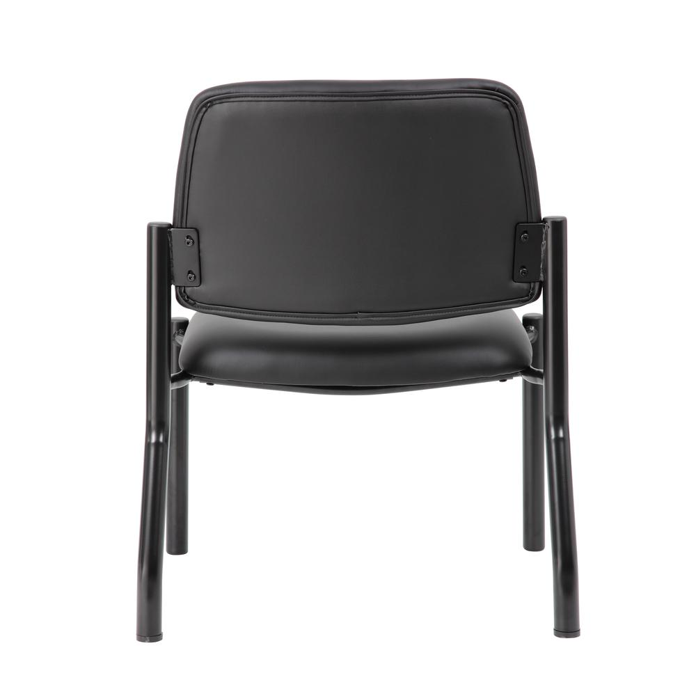 Boss Antimicrobial Armless Guest Chair, 400 lb. weight capacity. Picture 4
