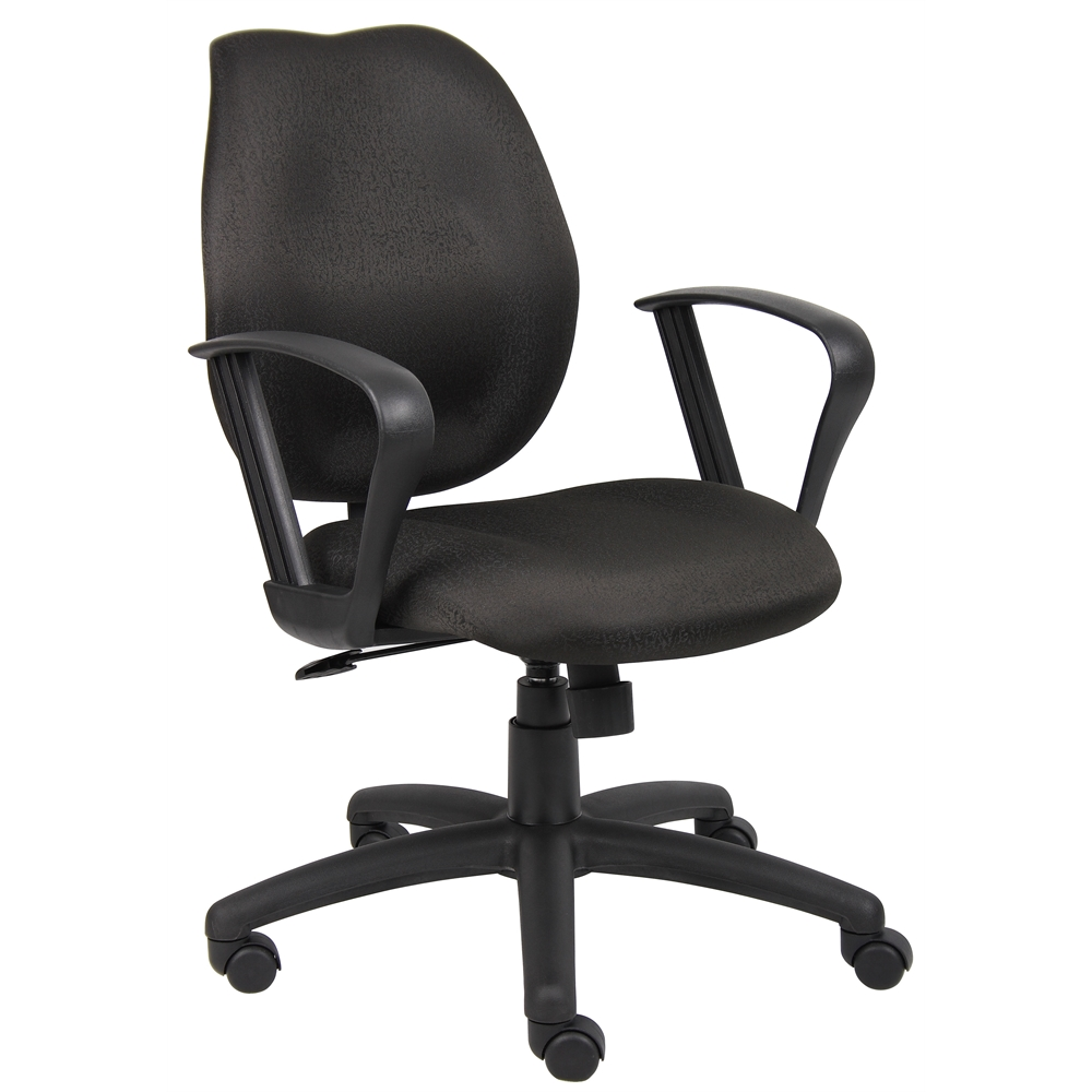 Boss Black Task Chair W/Loop Arms. Picture 1