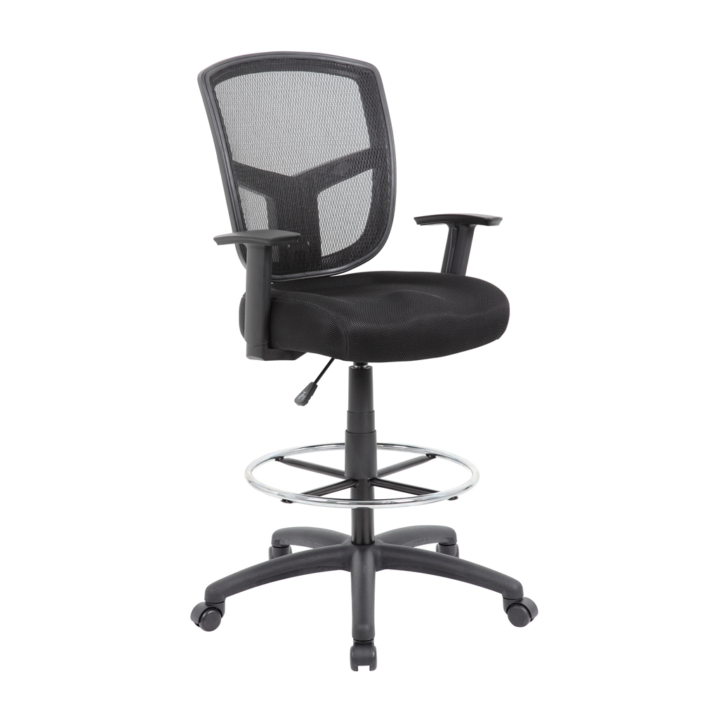 Boss Contract Mesh Drafting Stool. Picture 1