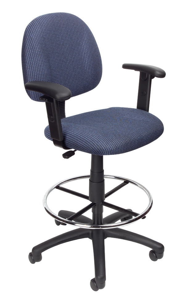 Boss Drafting Stool B315 Be W Footring And Adjustable Arms