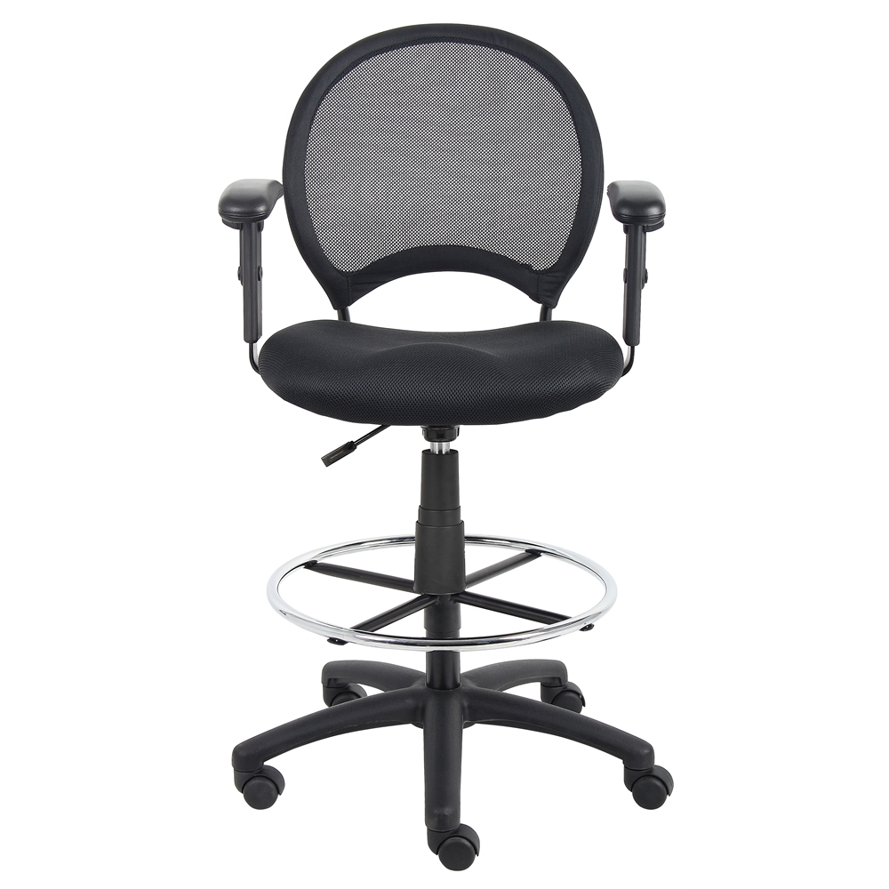 Boss Mesh Drafting Stool W/ Adjustable Arms. Picture 3