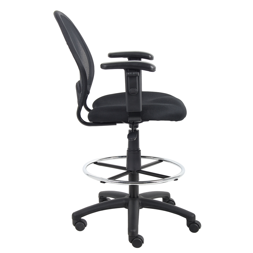 Boss Mesh Drafting Stool W/ Adjustable Arms. Picture 4