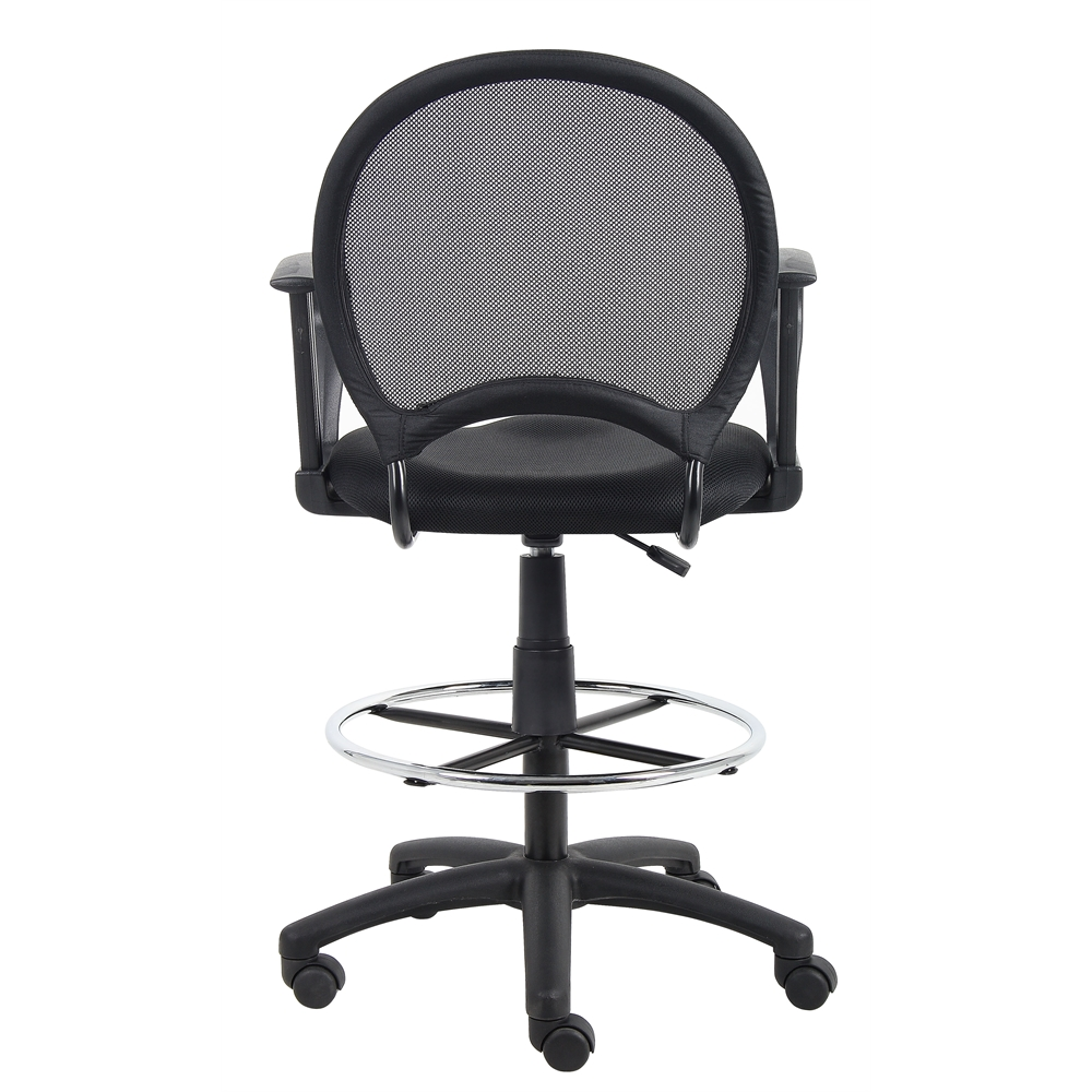 Boss Mesh Drafting Stool W Loop Arms