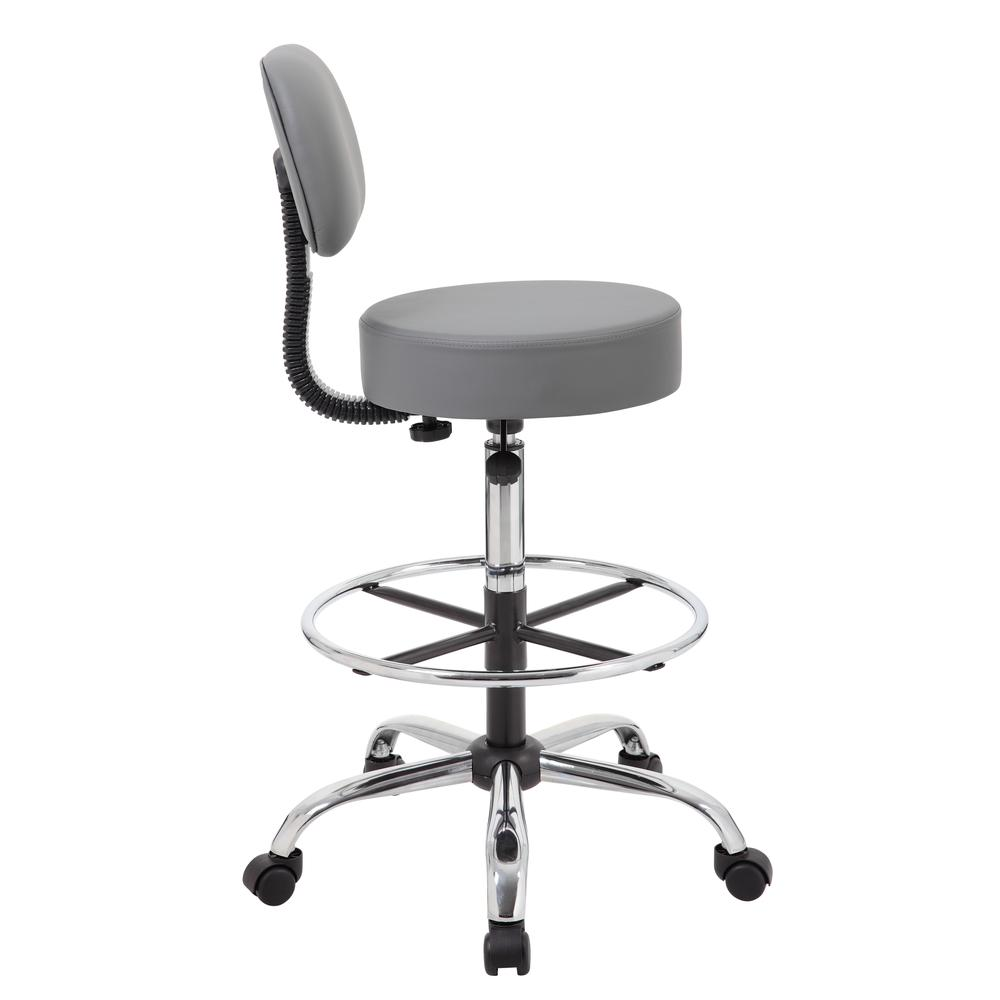 Boss Caressoft Medical/Drafting Stool W/ Back Cushion. Picture 2
