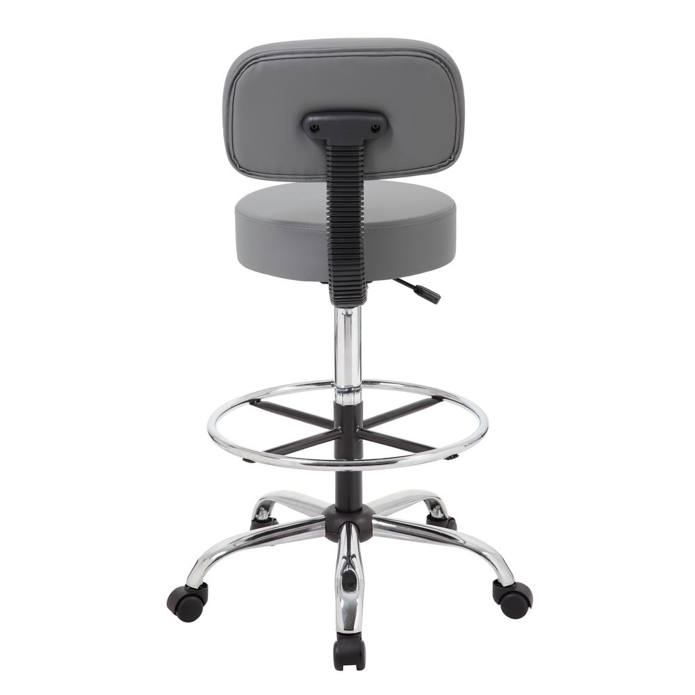 Boss Caressoft Medical/Drafting Stool W/ Back Cushion. Picture 3