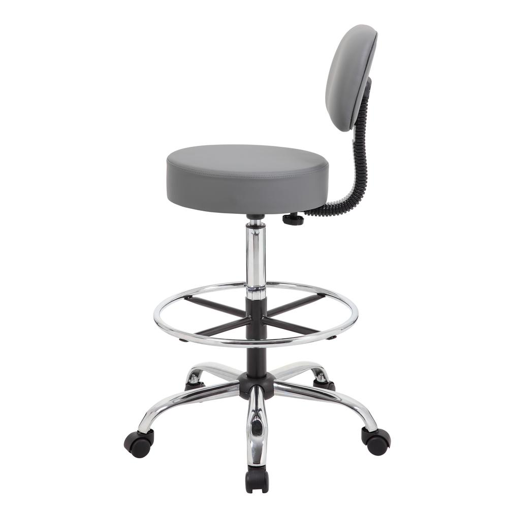 Boss Caressoft Medical/Drafting Stool W/ Back Cushion. Picture 4
