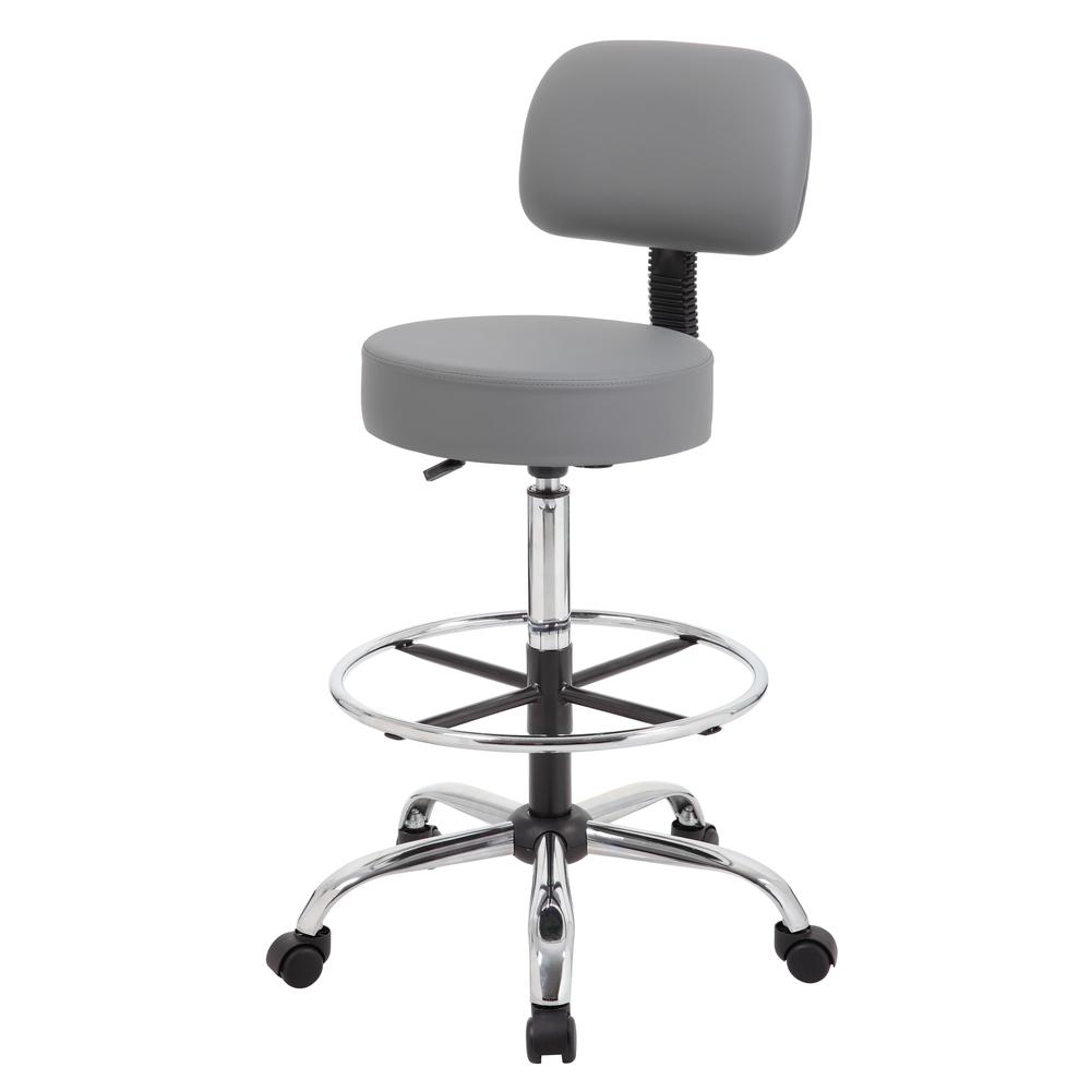 Boss Caressoft Medical/Drafting Stool W/ Back Cushion. Picture 5