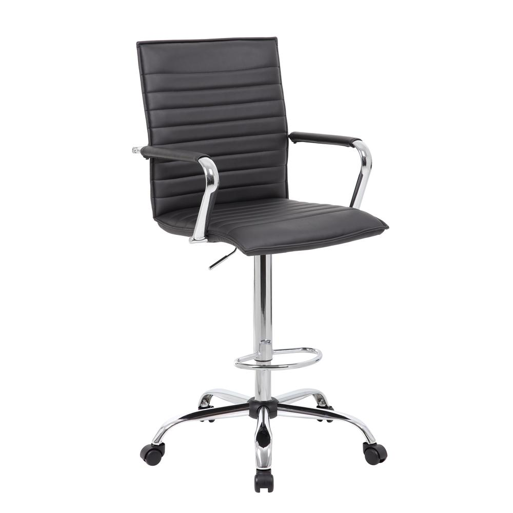 Boss Vinyl Ribbed Drafting Stool. Picture 6