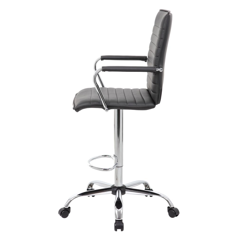 Boss Vinyl Ribbed Drafting Stool. Picture 4