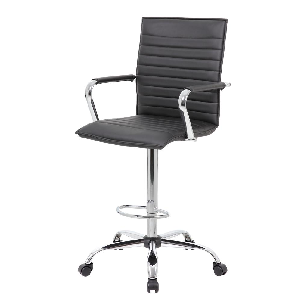 Boss Vinyl Ribbed Drafting Stool. Picture 5