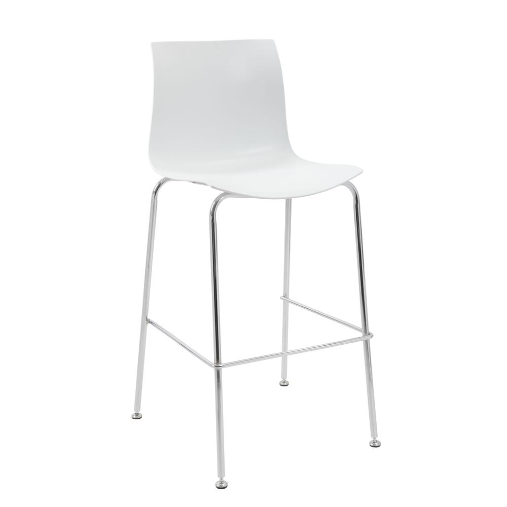 Boss White Stool w/Chrome Frame. Picture 6