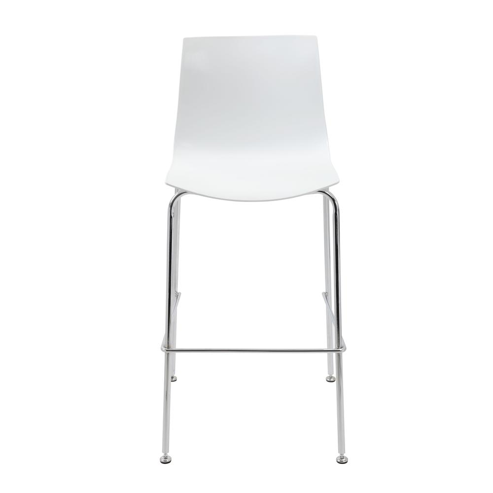 Boss White Stool w/Chrome Frame. Picture 1