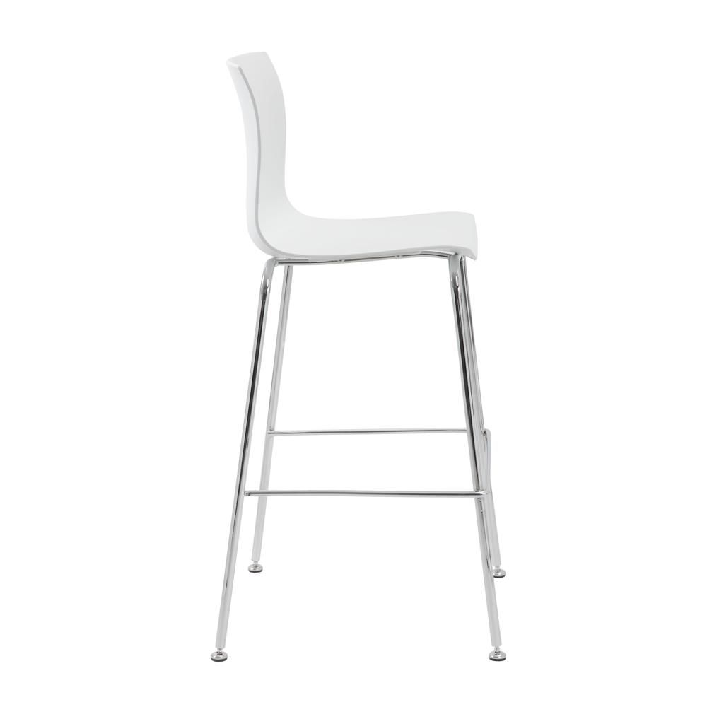 Boss White Stool w/Chrome Frame. Picture 2
