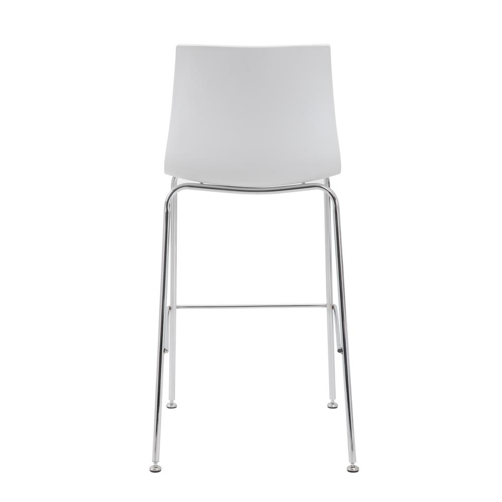 Boss White Stool w/Chrome Frame. Picture 3