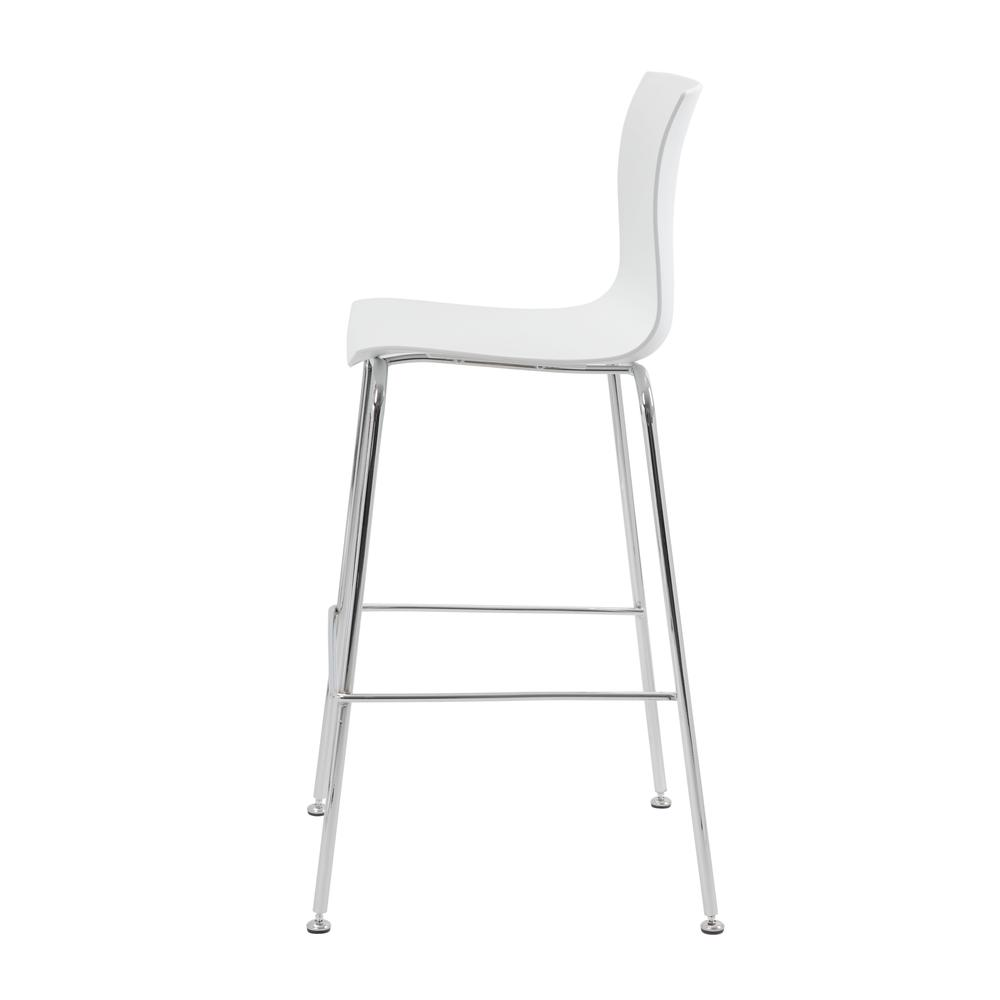 Boss White Stool w/Chrome Frame. Picture 4