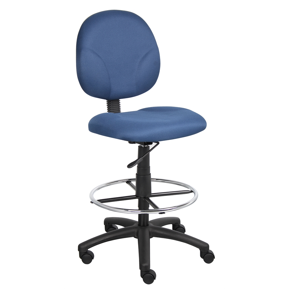 Boss Blue Fabric Drafting Stools W/Footring. Picture 4