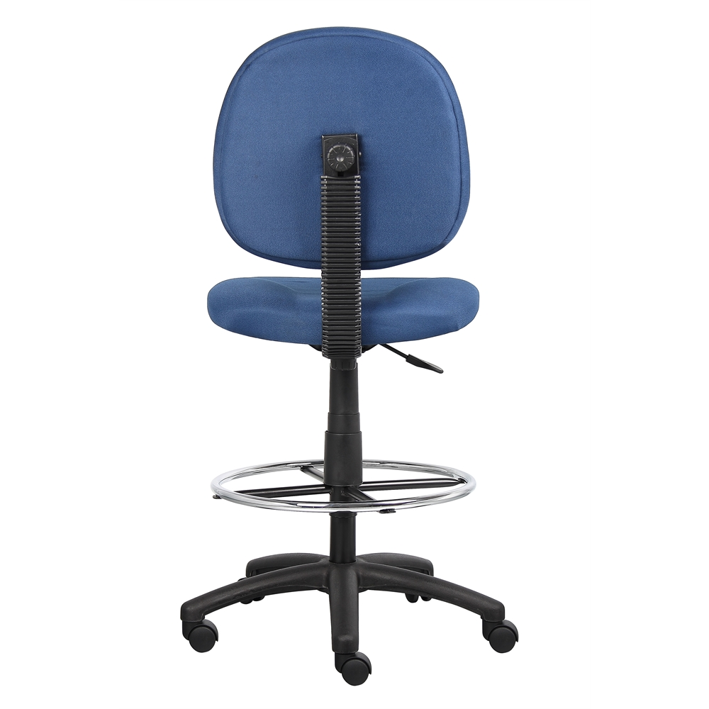 Boss Blue Fabric Drafting Stools W/Footring. Picture 1