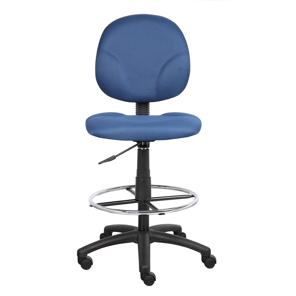 Boss Blue Fabric Drafting Stools W/Footring. Picture 2