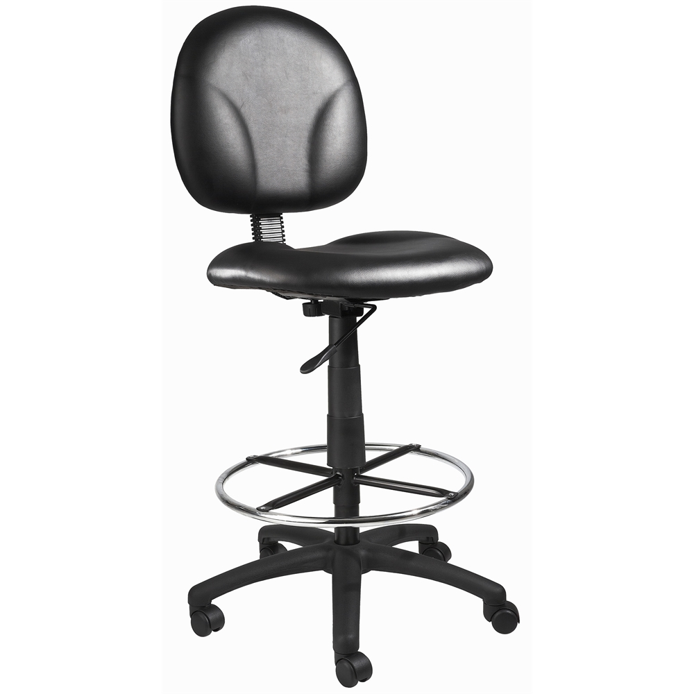 Boss Black Caressoft Drafting Stools W/Footring. Picture 1