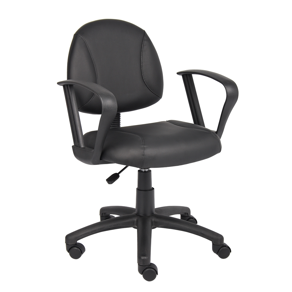 Boss Black Posture Chair W/ Loop Arms. Picture 5