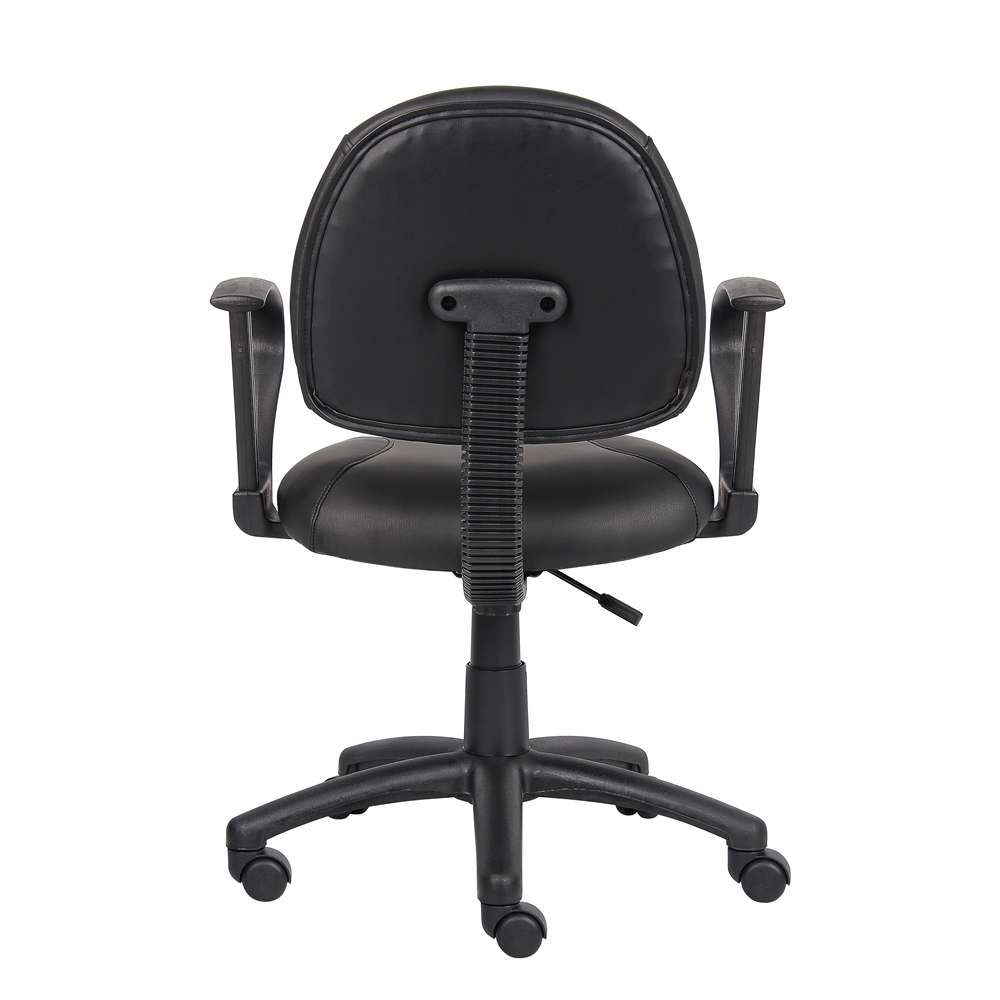 Boss Black Posture Chair W/ Loop Arms. Picture 1