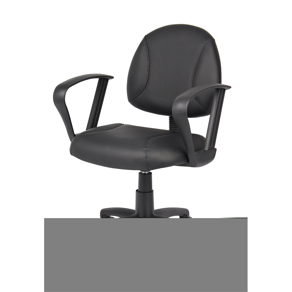 Boss Black Posture Chair W/ Loop Arms. Picture 3