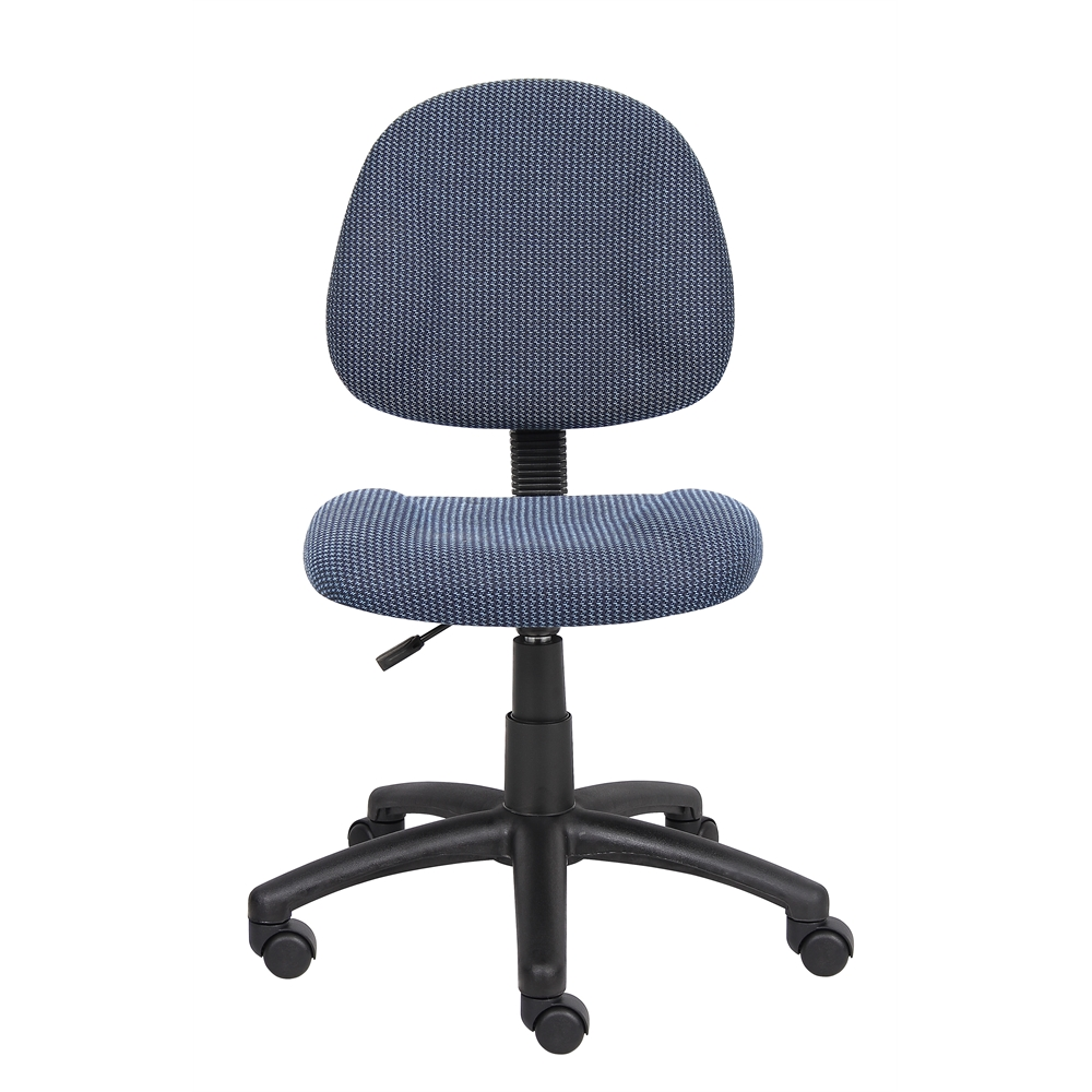 Boss Blue  Deluxe Posture Chair. Picture 3
