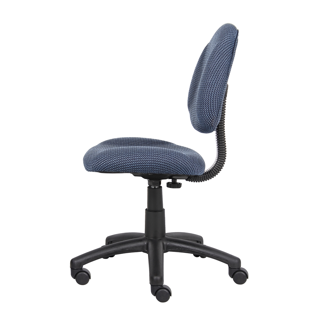 Boss Blue  Deluxe Posture Chair. Picture 5