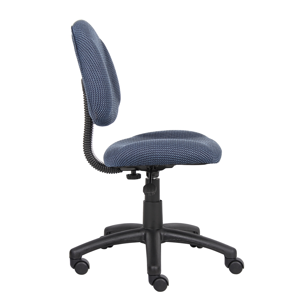 Boss Blue  Deluxe Posture Chair. Picture 6