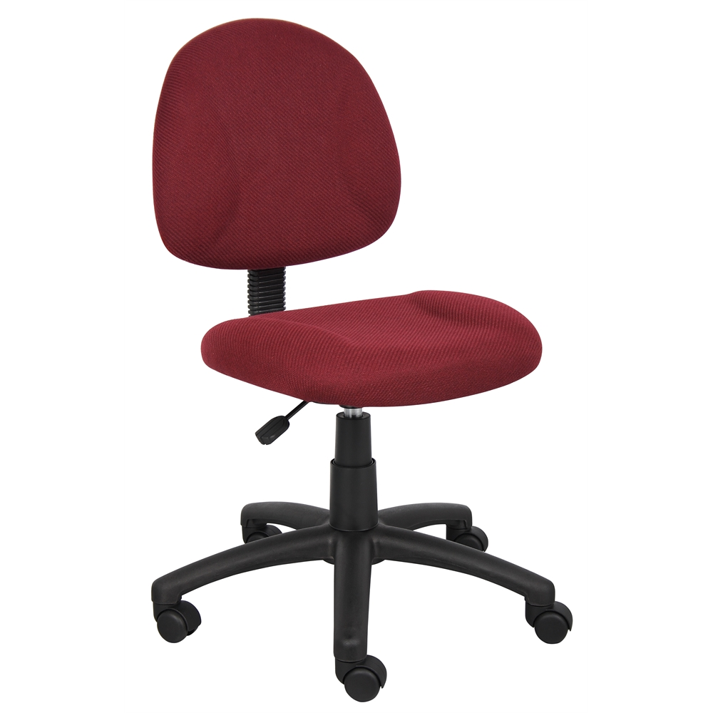 Boss Burgundy  Deluxe Posture Chair. Picture 1